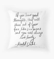 Roald Dahl inspirational tumblr quote merch! Throw Pillow
