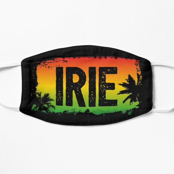 IRIE Rasta Flag Farben und Palmen Maske