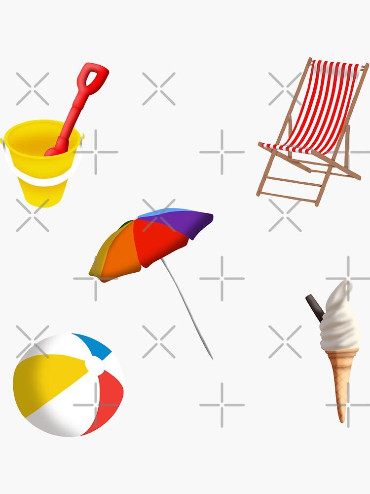 At the Beach Sticker Set by kmg-design