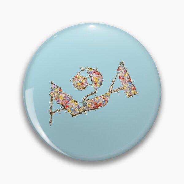 a24 floral logo Pin