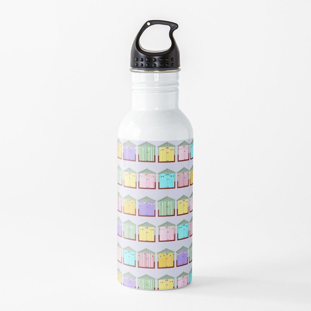 Beach Huts Water Bottle
