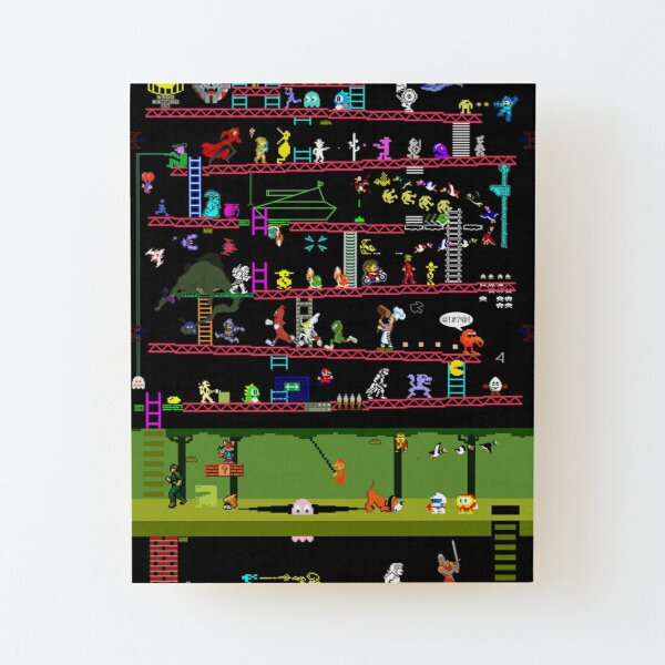 50 Video Game Classics Wood Mounted Print