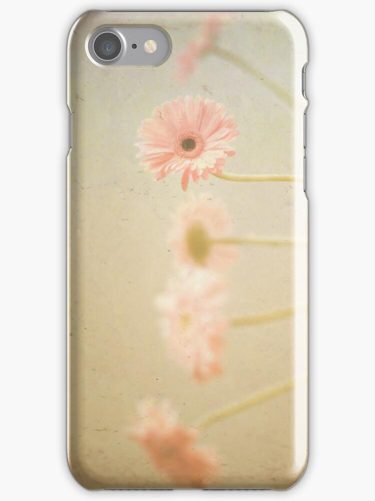 Vintage Pink Flowers by Caroline Mint