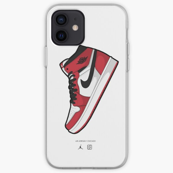 Jordan 1 Chicago Arte vectorial Funda blanda para iPhone