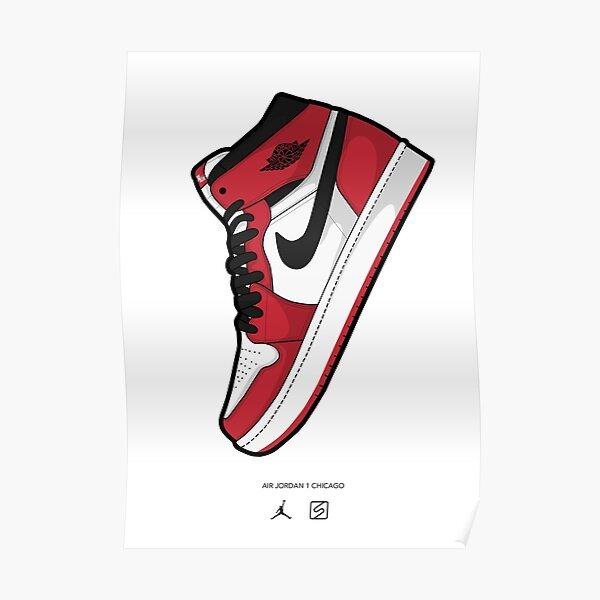 Jordan 1 Chicago Arte vectorial Póster