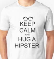 KEEP CALM AND HUG A HIPSTER Unisex T-Shirt