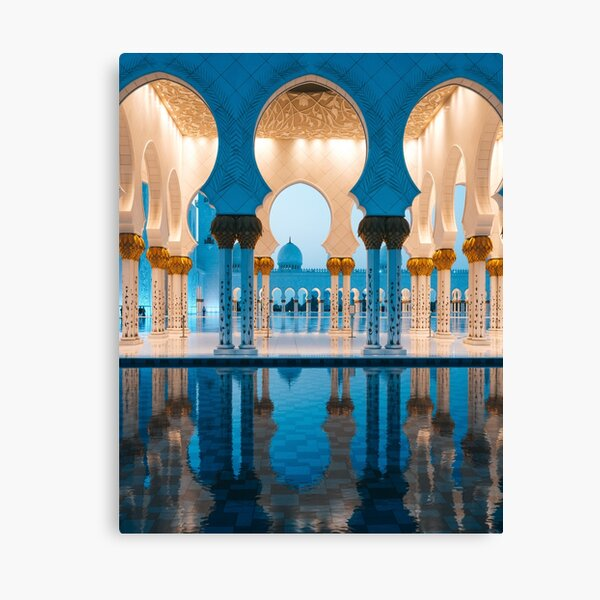 Abu Dhabi Mosque (Sheikh Zayed Mosque) in the evening Canvas Print