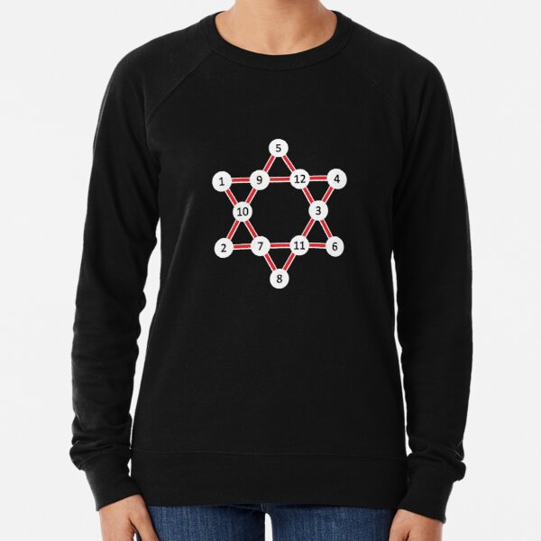 Super Magic Star Red with Numbers Lightweight Sweatshirt