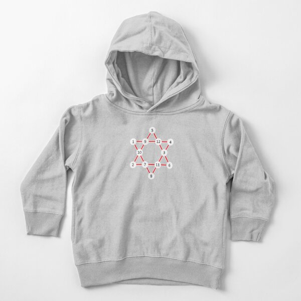 Super Magic Star Red with Numbers Toddler Pullover Hoodie