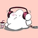 Wanda Happy Cloud Listens to Music by Liron Peer