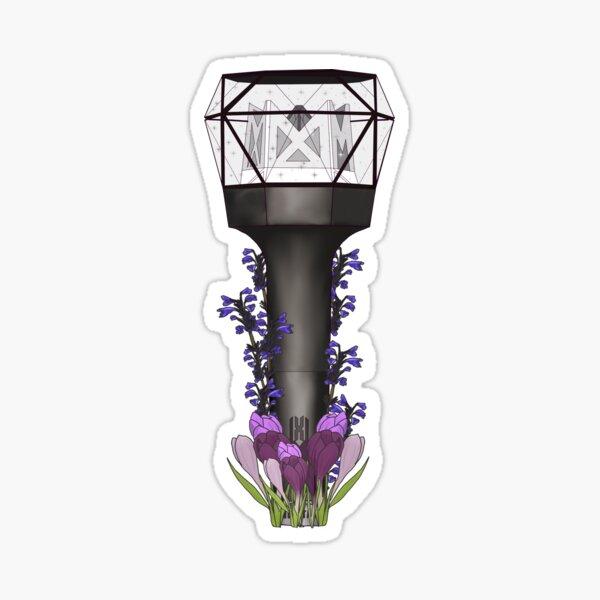 Monsta x Floral Lightstick kpop Pegatina