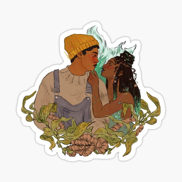 the mermaid and the lighthouse keeper Sticker