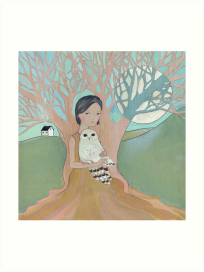 Love of a Girl and her Owl by Helga McLeod
