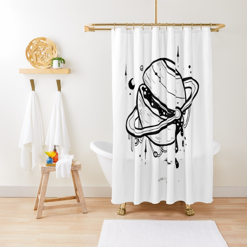 Planet: 19 Shower Curtain