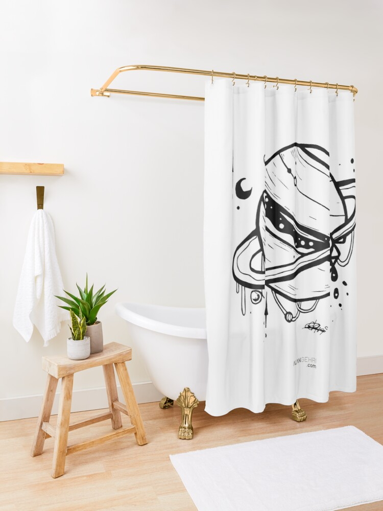 Alternate view of Planet: 19 Shower Curtain