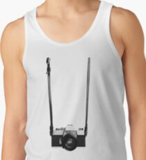 Digital camera isolated on white background DSLR on T-Shirt Tank Top