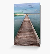 Newcastle Ocean Baths - The Pathway Greeting Card
