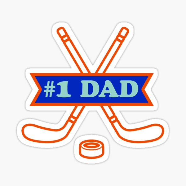 #1 Dad - Hockey Sticker