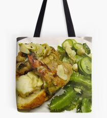 Chicken Stuffed with Scallops Tote Bag