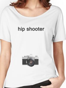 Digital camera isolated on white background DSLR on T-Shirt Women's Relaxed Fit T-Shirt