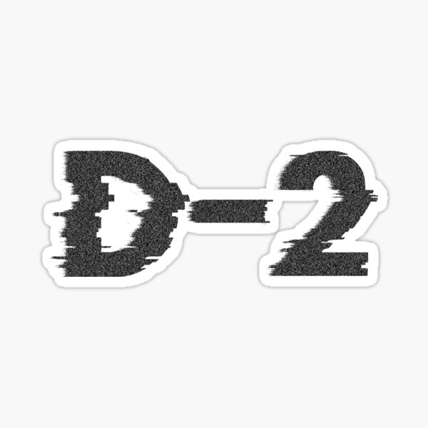 D Agust D-2 Suga Sticker
