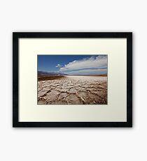 Devil's Speedway, Badwater Basin, Death Valley Framed Print