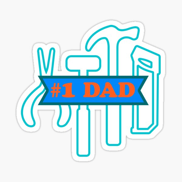 #1 Dad - Tool box Sticker