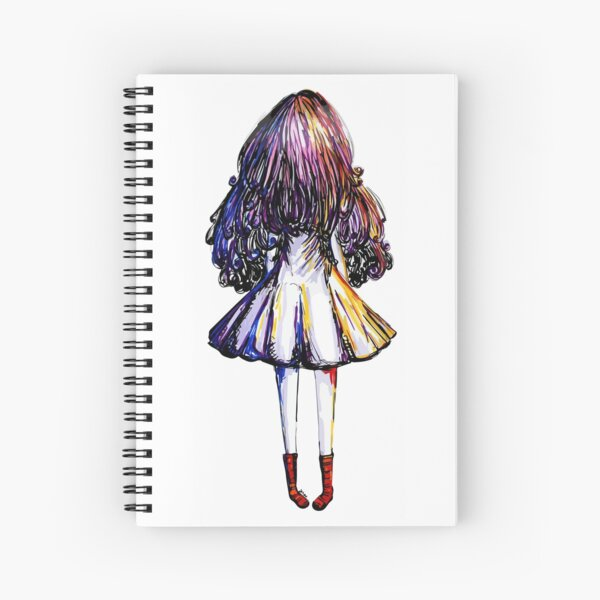 Girl and Red Doc Spiral Notebook