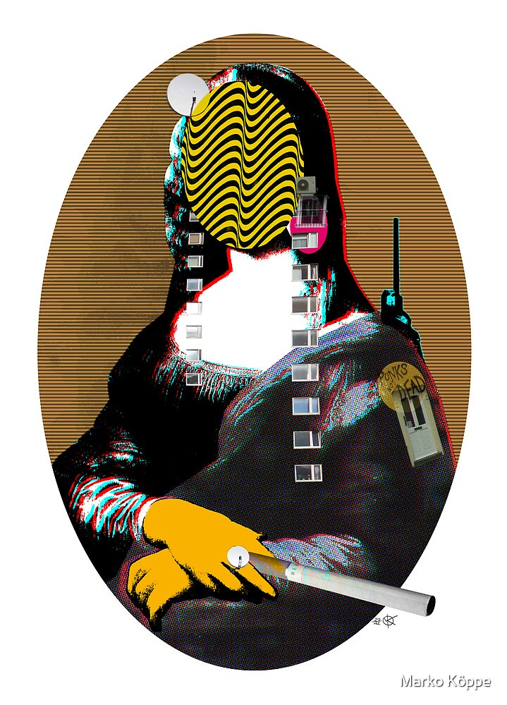 Mona Lisa StreetPopArt - Gold Version by Marko Köppe