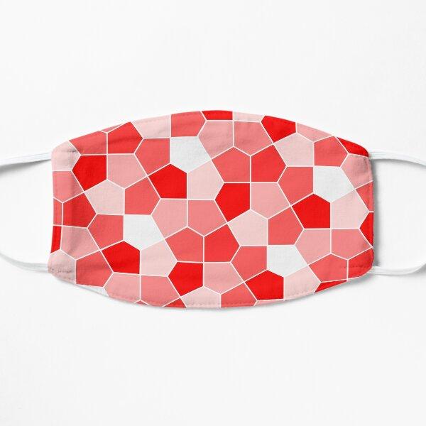 Cairo Pentagonal Tiles Red Flat Mask