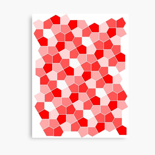 Cairo Pentagonal Tiles Red Canvas Print