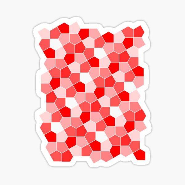 Cairo Pentagonal Tiles Red Sticker