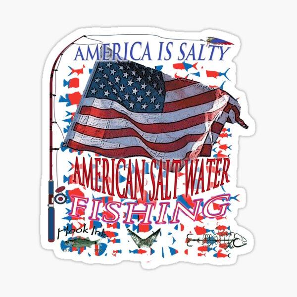 AMERICAN SALTY  AMERICAN FISHING Sticker
