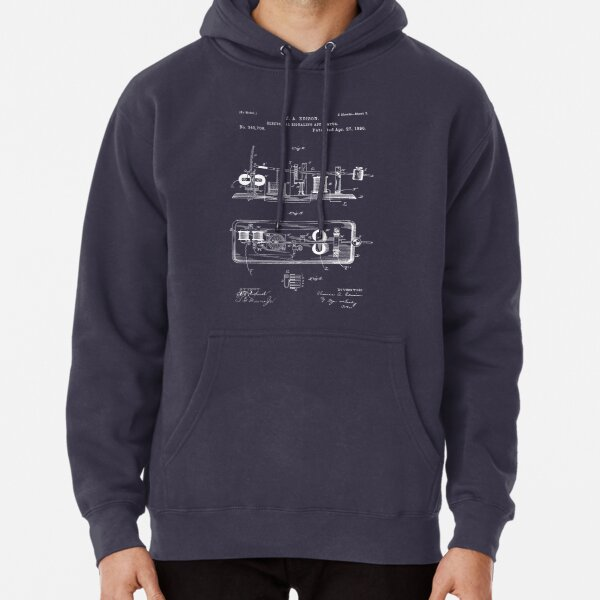 EDISON PATENTS / 03 - Electrical Signaling Apparatus - Blueprint Pullover Hoodie