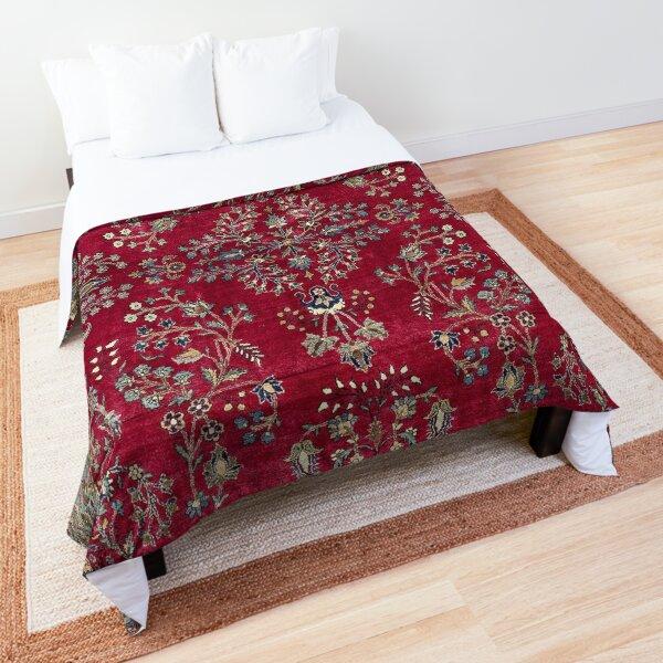Kashan Central Persian Silk Rug Print Comforter