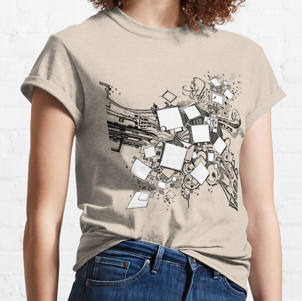Number One Box - Sketch Pen & Ink Illustration Art Classic T-Shirt