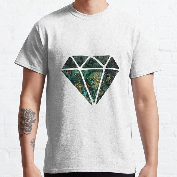 Marbre Malachite Indigo Doré T-shirt classique