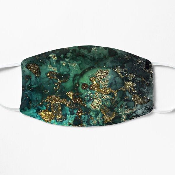 Gold Indigo Malachite Marble Flat Mask