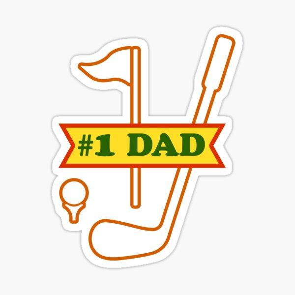 #1 Dad - Golf Sticker