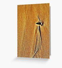 Sand Swirl Bird of Paradise Greeting Card