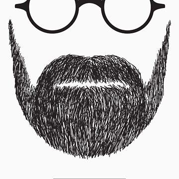 Beards with Glasses – Sigmund Freud by zeddhead