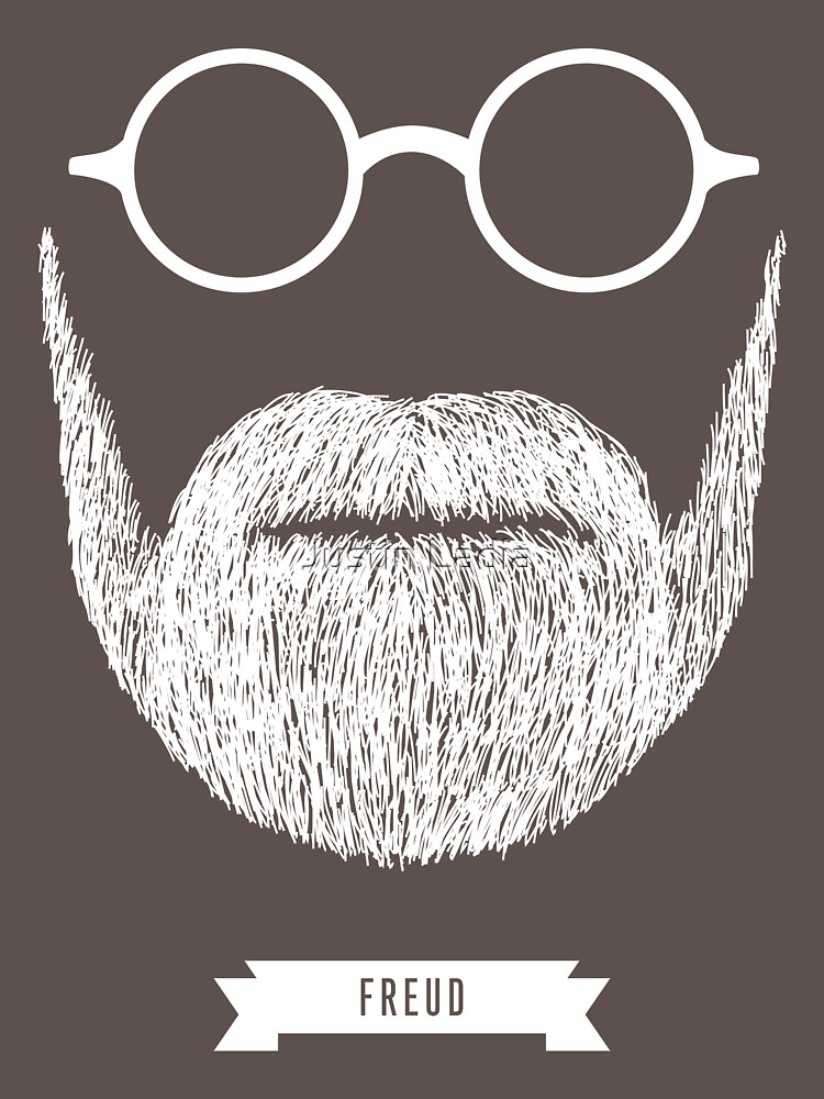 Beards with Glasses  Sigmund Freud in White | Unisex T-Shirt