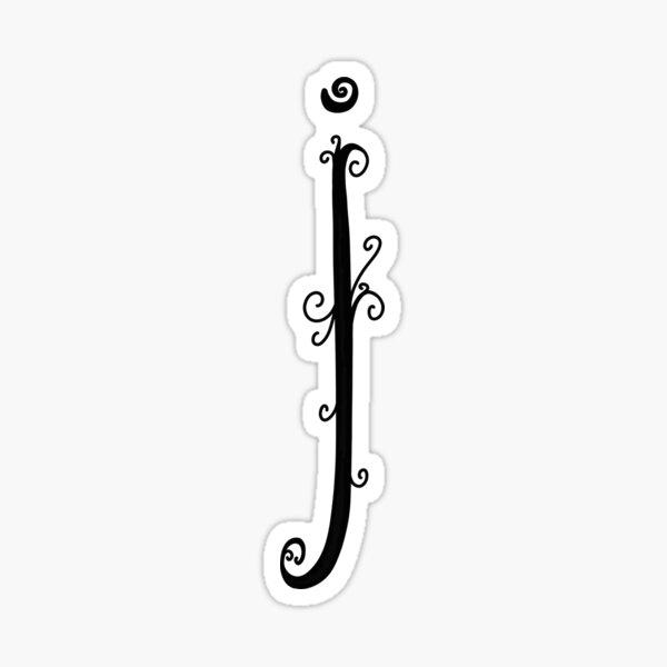 Monogramme lettre I, alphabet Sticker