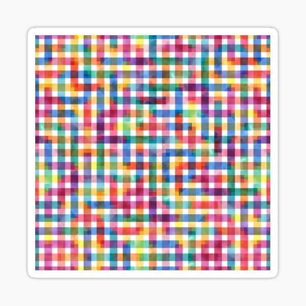 Square square pattern - watercolor Sticker