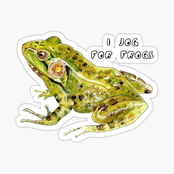 i jog for frogs Sticker
