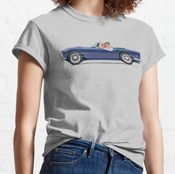 Royal Blue coloured TR5 with optional wire wheels Classic T-Shirt