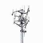 Cell Tower on White by ubiquitoid