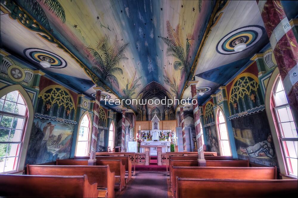 Painted church, Hawaii by fearonwoodphoto
