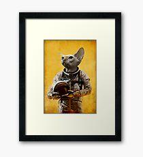 Proud astronaut Framed Print