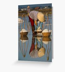 Mirror mirror on the lake, how many more loads can I take? Greeting Card